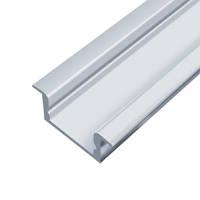 Профиль для LED ленты алюминиевый врезной Анодированный серебро