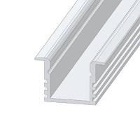 Профиль для LED подсветки алюминиевый врезной с ребрами Белый