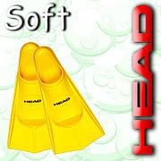 Ласты для плаванья Head Soft p. 35/36 (Желтые)