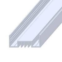 Профиль алюминиевый для монтажа на основу, анодированный, цвет серебро