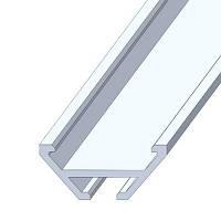 Профиль алюминиевый системный скрытого монтажа, анодированный, цвет серебро