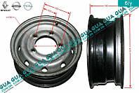 Диск колесный R15 6Jx15H2F металлический ( стальной / железный ) 7700302462 Nissan INTERSTAR 1998-2010, Opel MOVANO 1998-2003, Opel MOVANO 2003-2010