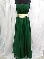 Вечернее платье зеленое длинное