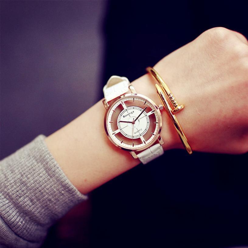 Женские наручные часы Rosivga белые, фото 1