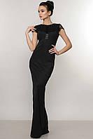 Длинное вечернее черное платье КАННЫ ТМ Ри Мари  42-48 размеры