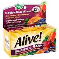 Nature's Way, для женщин 50+, Мультивитамины и мультиминералы, Для взрослых 50+, 50 таблеток