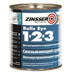 Адгезионный грунт на акриловой основе Zinsser Bulls Eye 1-2-3, белый, 0,946л
