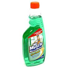 Мистер Мускул для стекла с нашатырным спиртом, сменная бутылка 500 мл.