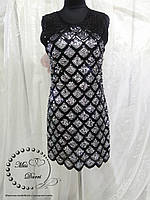 Нарядное платье с паетками черное с серебром