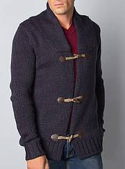 Стильная мужская теплая кофта на пуговицах Catbalou, цвет темно-синий р. L