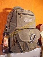 Рюкзак городской спортивный GOLDBE 0107 хаки светлый, фото 1