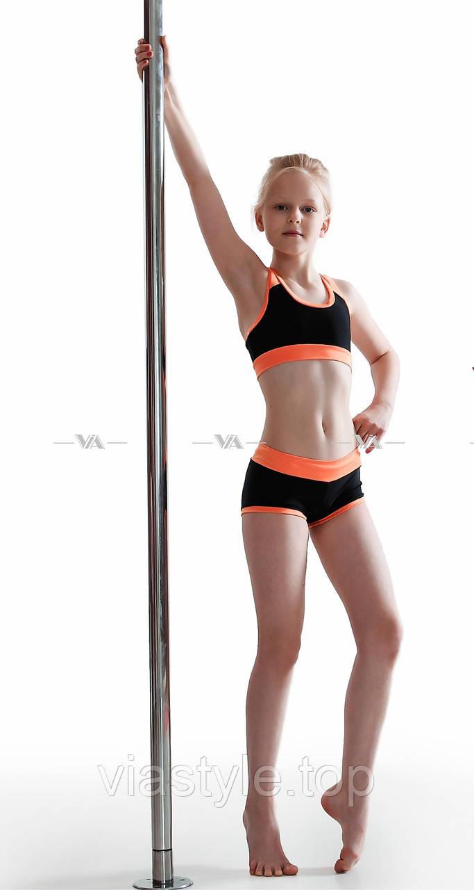 Топ и шорты VIA Sport детская одежда для танцев, pole dance и акробатики -  Спортивная e8f67243c1a