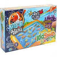 """Игра """"Клевая рыбалка и Кинетический песок"""" 1200 г - 2 в 1, игра для детей"""