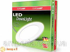 Светильник встраиваемый круглый DownLight EUROLAMP LED 6W 3000K, фото 2