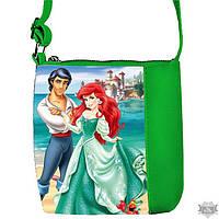 Детская сумка для девочки Little princess с принтом Русалка и Принц 55182