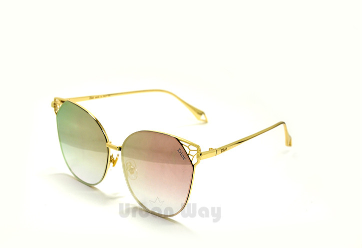 887ec7985f90 Женские солнцезащитные очки Dior, оправа с зеркальными линзами - Интернет -  магазин