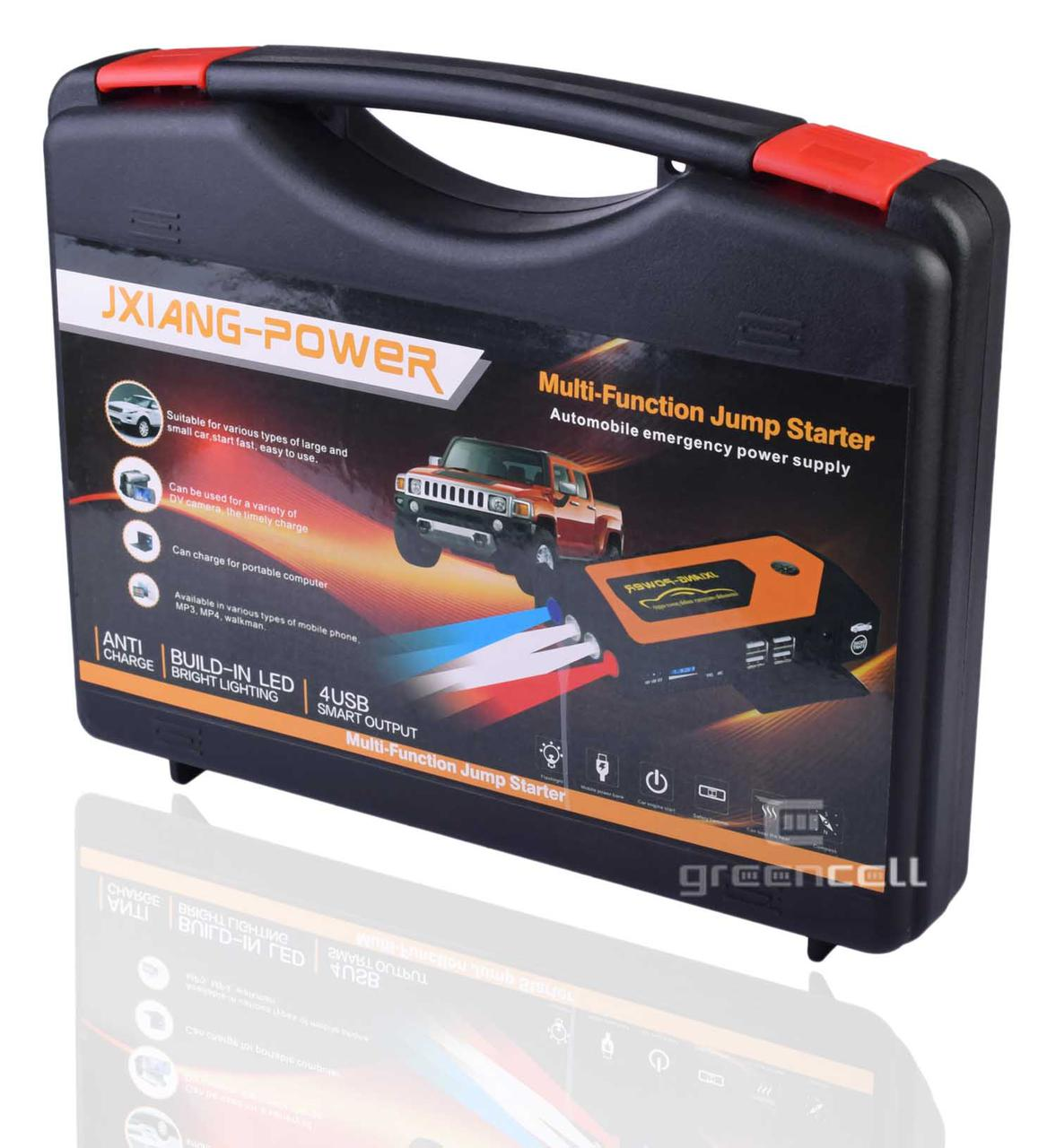 Автомобильный пусковой инвертор набор в кейсе Power bank JXIANG POWER JX28 69800 mAh 12, 16, 19 V