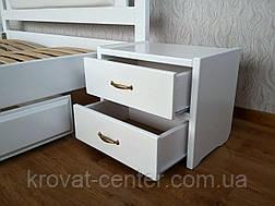 "Белая прикроватная тумбочка из дерева с ящиками ""Презент - 2"", фото 2"