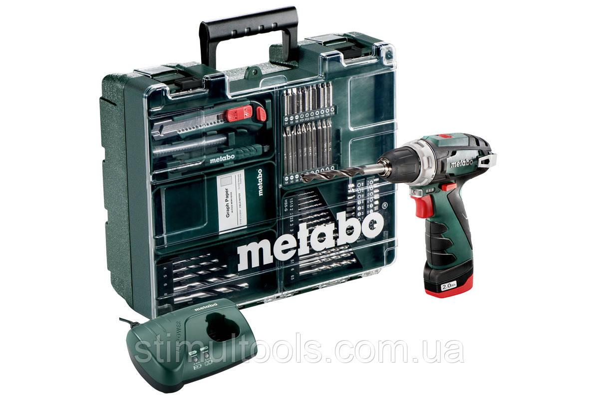 Аккумуляторный шуруповерт Metabo PowerMaxx BS (Мобильная мастерская)