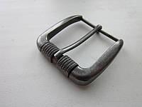 Пряжка для ремня 40 мм состаренный тёмный никель