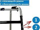 Медицинские Ходунки для инвалидов, взрослых и пожилых-универсальные 2 в 1-фиксированные+шагающие OSD EY 913, фото 7