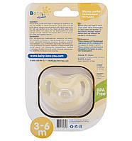 Пустышка силиконовая ортодонтическая 3-6 мес, BabyLove