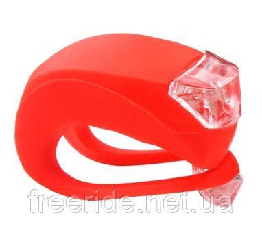 Силиконовый фонарик, мигалка, стоп, маячок (красный) 1шт