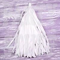 Гирлянда тассел белая, 35 см, 5 шт