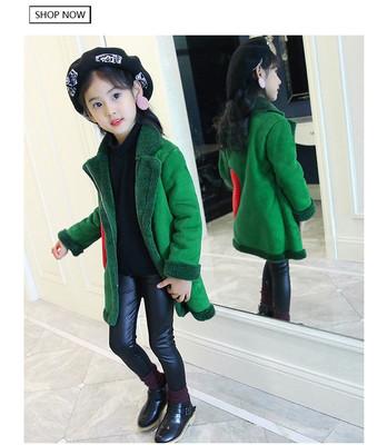 Детское пальто  с сердцем сбоку