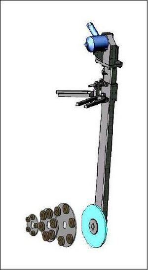 Приспособление для притирки седел задвижек К-8085/1М Ду200-300 мм