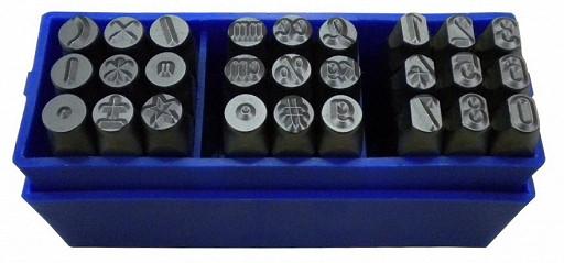 Набор цифр и специальных символов 7 мм