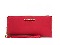 Кошелек Michael Kors Jet Set Travel Continental Wallet Red