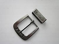 """Пряжка брендовая """"LEVIS 501"""" для ремня 40 мм тёмный никель"""