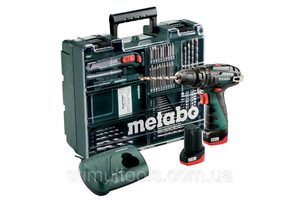 Аккумуляторный ударный шуруповерт Metabo PowerMaxx SB Basic Set (Мобильная мастерская)