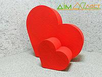 Набор сердец напольных 32см и 15 см с покраской