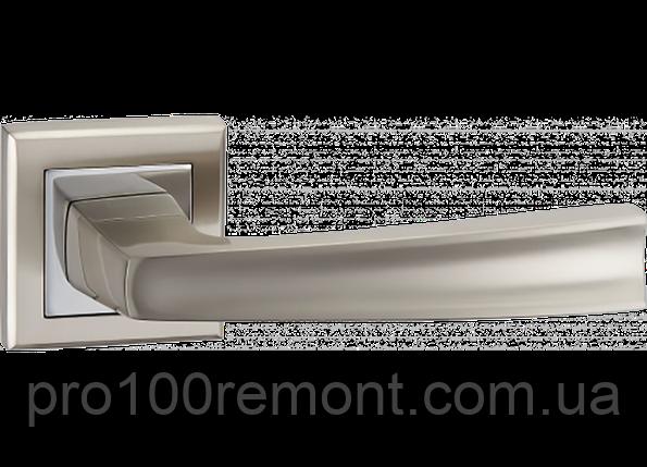 Ручка дверная на розетке МВМ RAY NUOVO A-1355 SN/CP матовый никель/полированный хром, фото 2