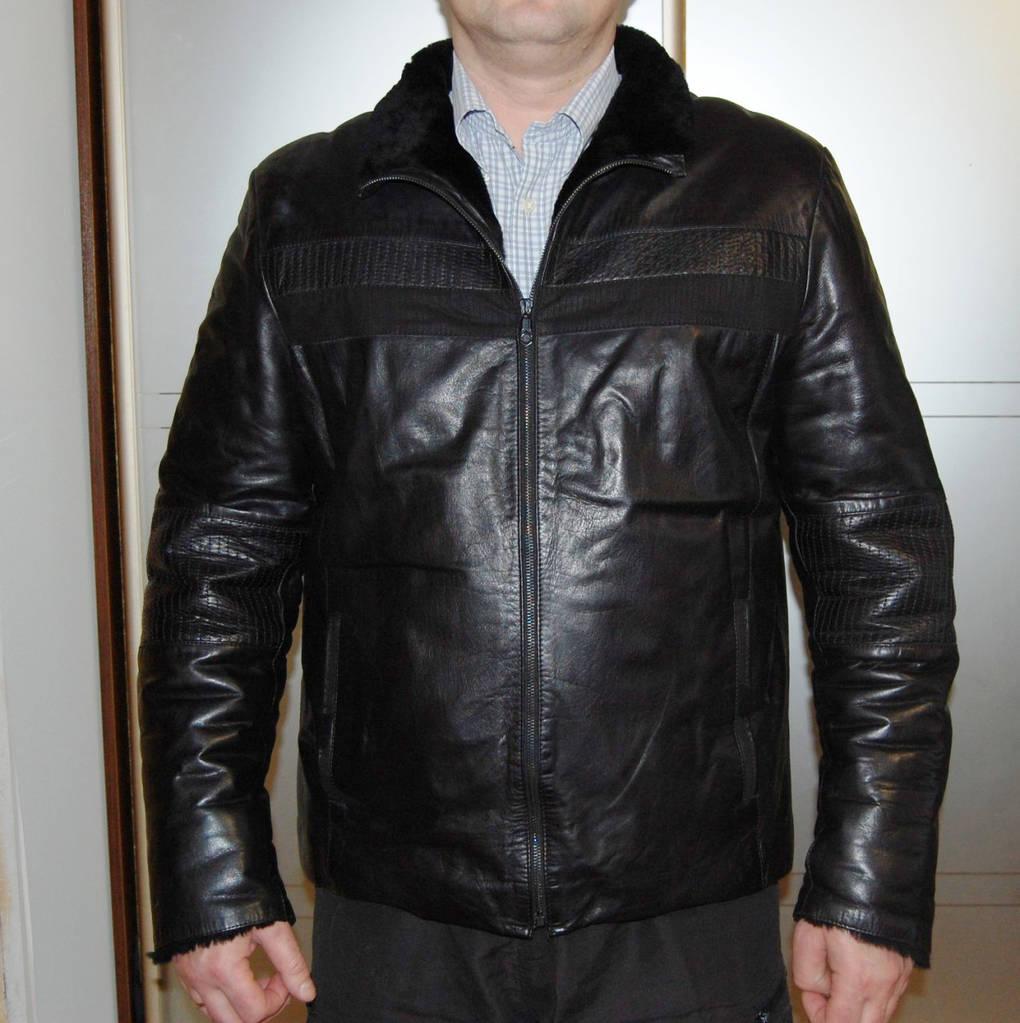 Кожаная дубленка черная Vitalli Daniells XL