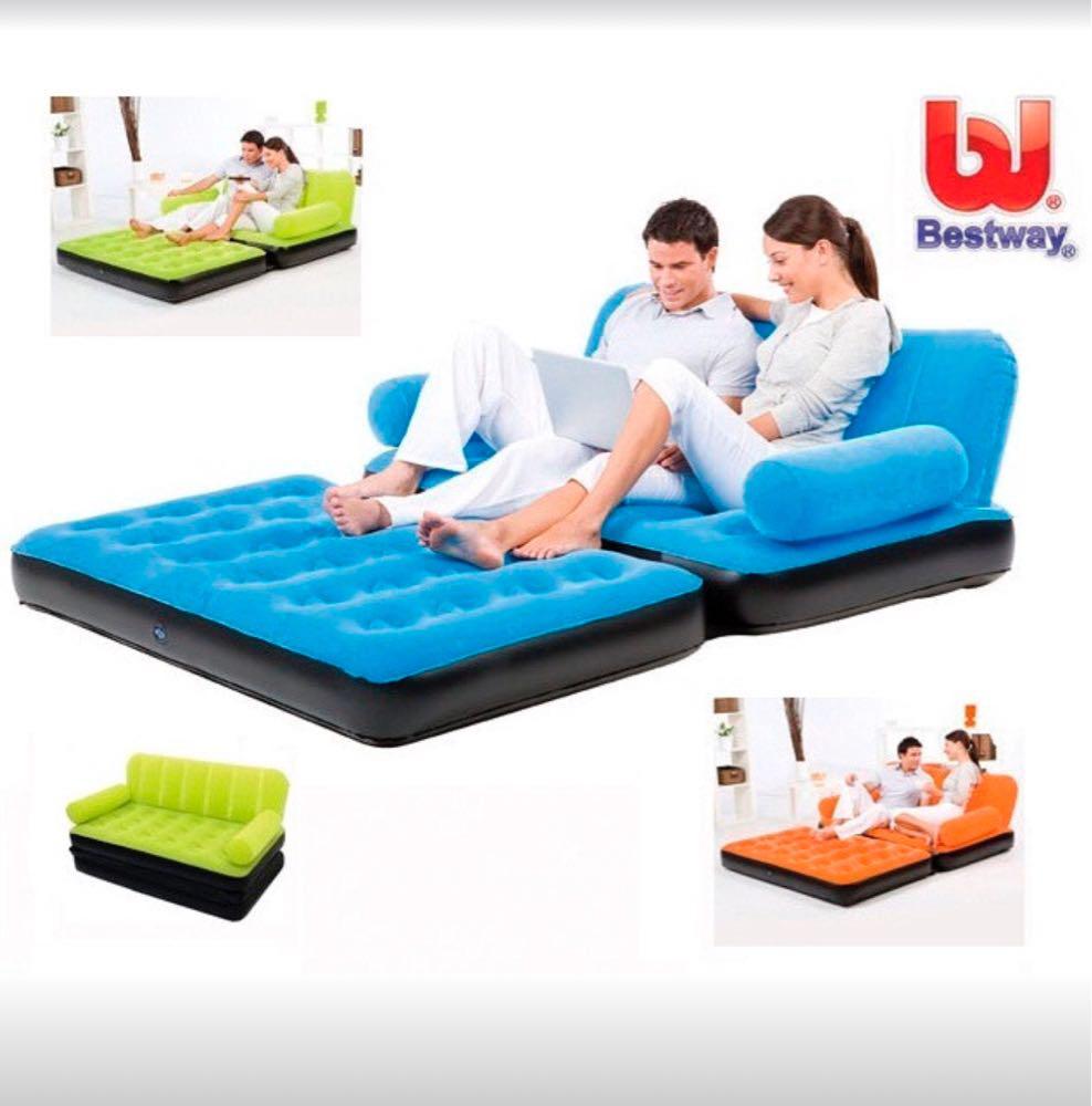 Надувний диван Bestway 67356 з насосом ( 5 в 1 ) трансформер Багатофункціональний