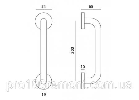 Ручка-скоба дверная МВМ COMFORT S101-200 SS нержавеющая сталь, фото 2