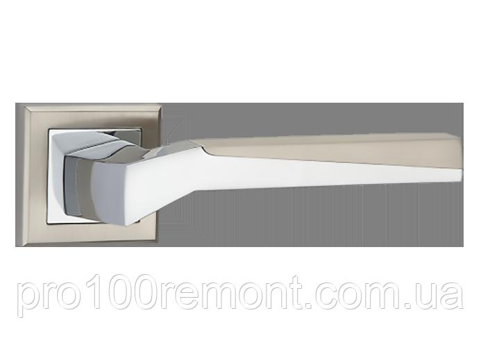 Ручка дверна на розетці МВМ NEO Z-1319 SN/CP матовий нікель/полірований хром