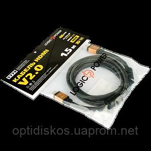 HDMI Кабель Logic Power, 1.5м, Ver 2.0 (4K/Ultra HD), фото 2