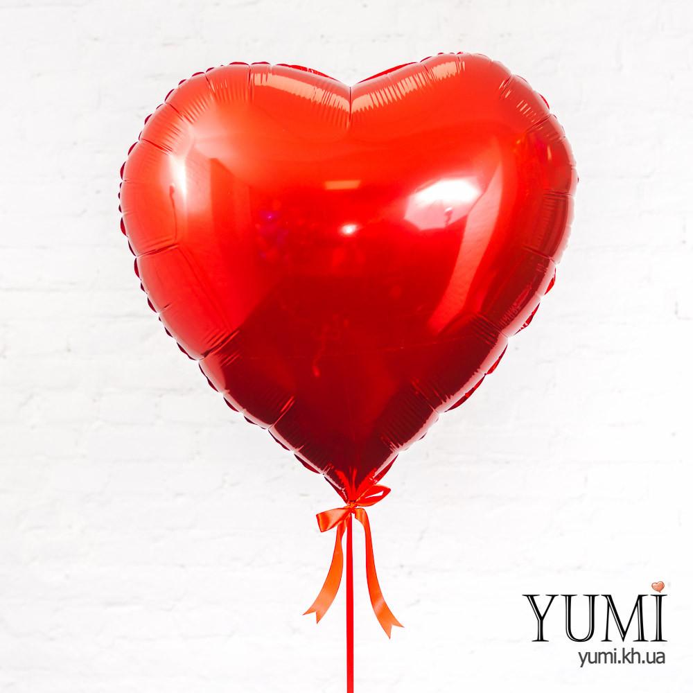 Фольгированный шар с гелием в форме сердца