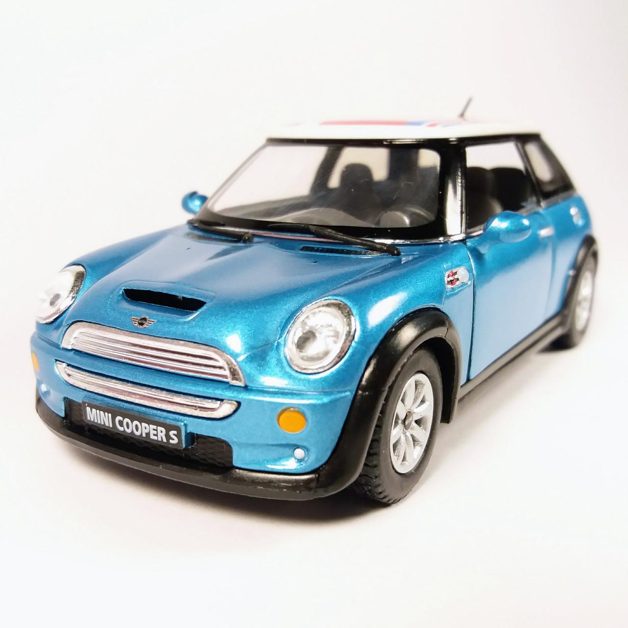 Автомодель металлическая Mini Cooper S KINSMART Синий KT5059WF