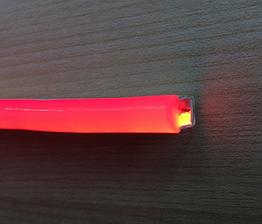 Светодиодный гибкий неон 3528/120led IP68 220V краснай