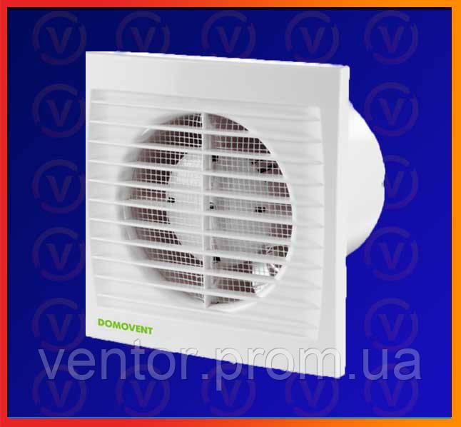 Бытовой канальный вентилятор Домовент СТ таймер, D = 150мм