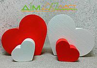 Набор сердец напольных 32см и 15 см с покраской 2 шт. и белых 2шт.