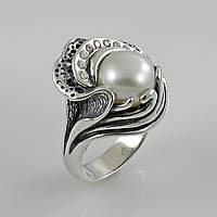 Кольцо из серебра Кокетка