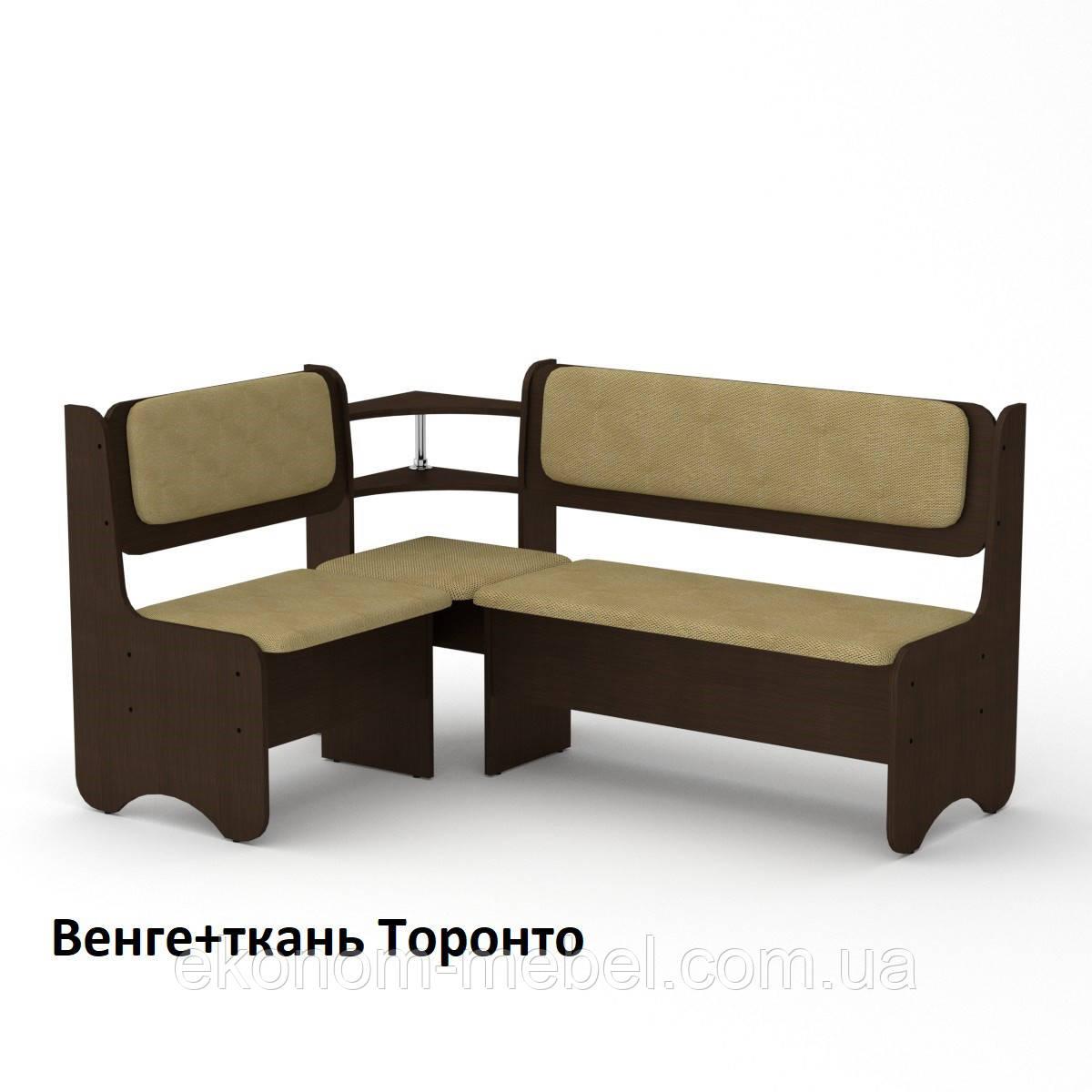 Кухонный диван София с полками и нишами для хранения, угловой