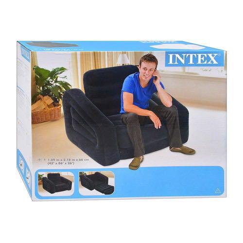 Надувне крісло-трансформер Intex 68565 (109х218х66 см) без насоса