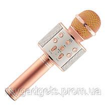 Беспроводной караоке микрофон - колонка 2в1 Wster WS-858, фото 3